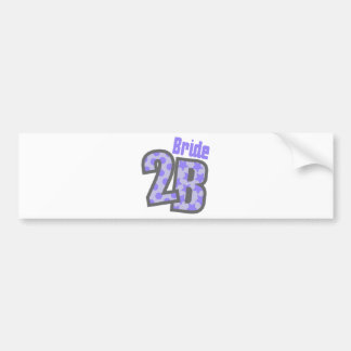 Bride 2B Purple Bumper Sticker