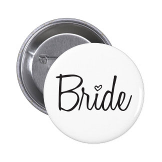 Bride 6 Cm Round Badge