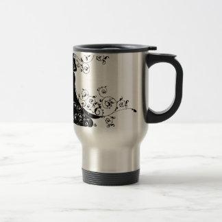 Bride Abstract Wedding Silhouette Design Travel Mug
