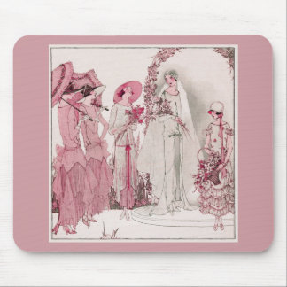 Bride and attendents mouse mat