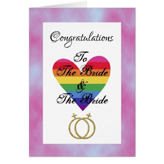 bride and bride gay lesbian Congratulations Card