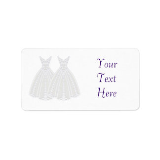 Bride and Bride Label Address Label