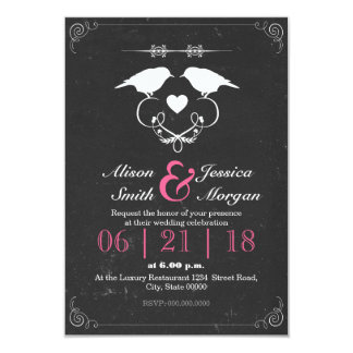 Bride and Bride - Lesbian wedding 9 Cm X 13 Cm Invitation Card