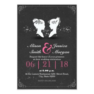 Bride and Bride - Lesbian wedding Card