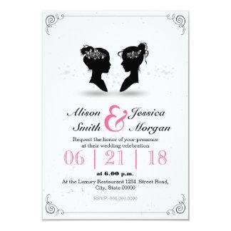 Bride and Bride - Lesbian wedding 9 Cm X 13 Cm Invitation Card
