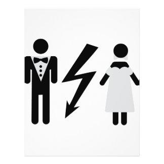 bride and bridegroom icon 21.5 cm x 28 cm flyer