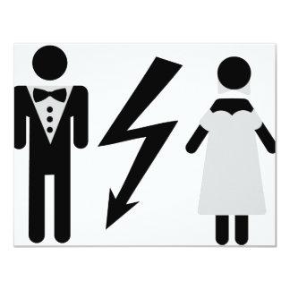 bride and bridegroom icon invites