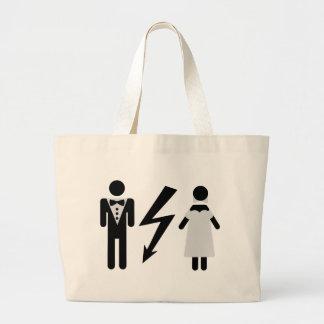 bride and bridegroom icon jumbo tote bag