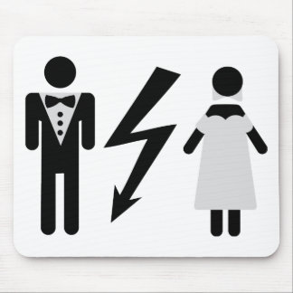 bride and bridegroom icon mouse pad