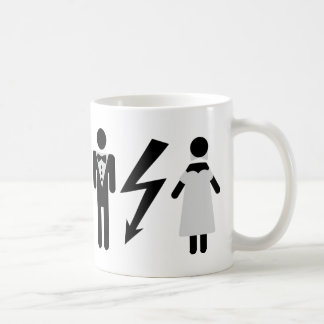 bride and bridegroom icon coffee mug