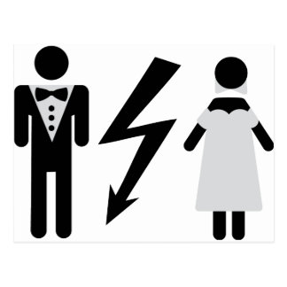 bride and bridegroom icon postcards