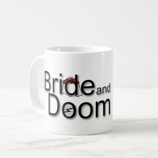 Bride and Doom logo mug