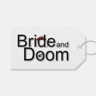 Bride and Doom parcel tag