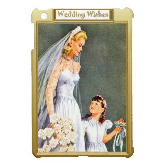 Bride and excited bridesmaid iPad mini covers