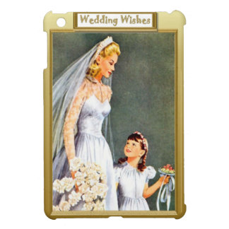 Bride and excited bridesmaid iPad mini covers
