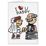 Bride And Father On Wedding Day Before Ceremony Card