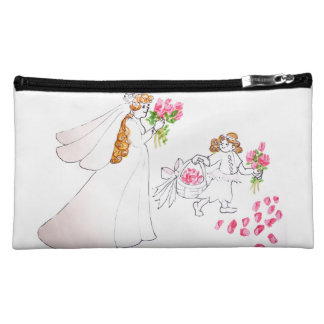 Bride and Flower Girl Cosmetic Bag