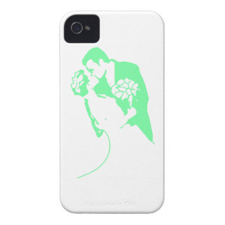 Bride and Groom 01 Light Green iPhone 4 Case
