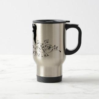 Bride and Groom Abstract Wedding Silhouette Design Travel Mug