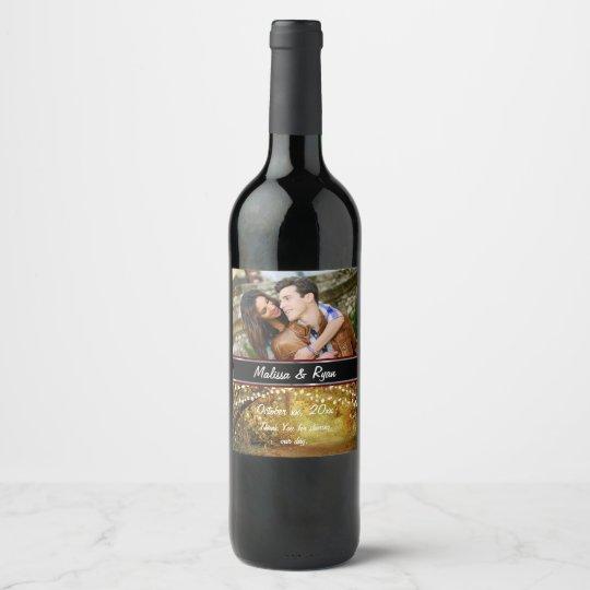 Bride and Groom, Autumn Wedding, Custom, Wine Label