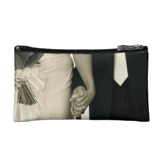 Bride and Groom Makeup Bags