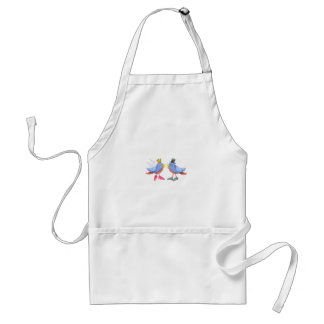 BRIDE AND GROOM BIRDS APRONS