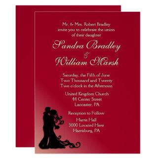 Bride and Groom Burgundy Card