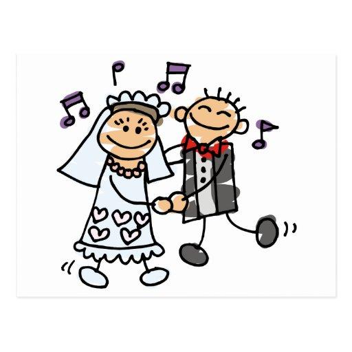 Bride and Groom Celebrate Postcards