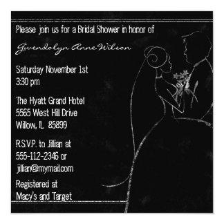 Bride and Groom Chalk Bridal Shower Invitation