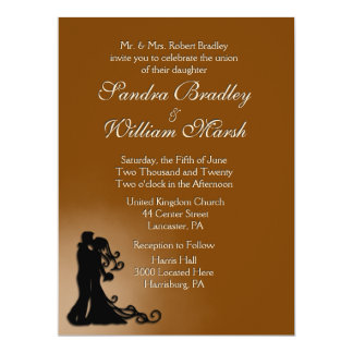 Bride and Groom Chocolate 17 Cm X 22 Cm Invitation Card