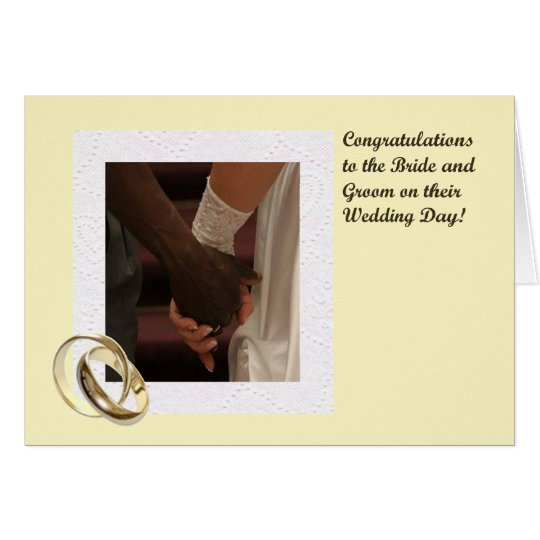 Bride and Groom Congratulations Card