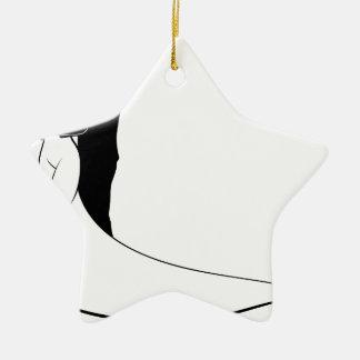 Bride and Groom Couple Wedding Silhouette Ceramic Star Decoration