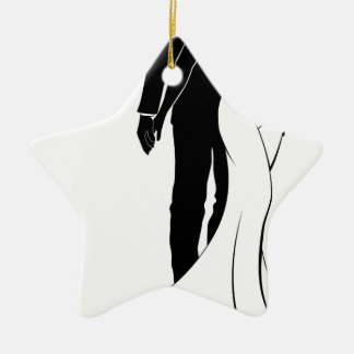 Bride and Groom Couple Wedding Silhouette Christmas Ornament