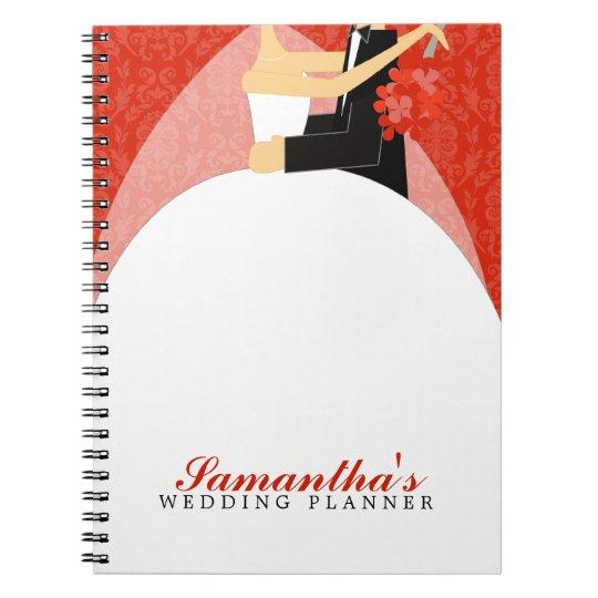 Bride and Groom Custom Wedding Planner {red} Notebooks