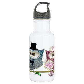 Bride and Groom cute Owls Art 532 Ml Water Bottle