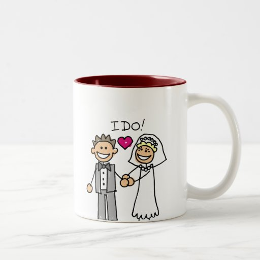 Bride and Groom Exchange vows Coffee Mugs