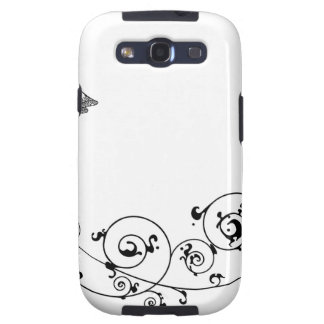 Bride and groom floral design samsung galaxy s3 cases