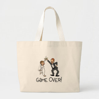 Bride and Groom Game Over Canvas Bag