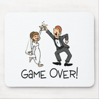 Bride and Groom Game Over Mouse Pad