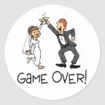 Bride and Groom Game Over Sticker