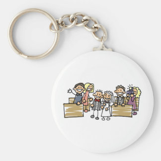 Bride And Groom Get Married Basic Round Button Key Ring