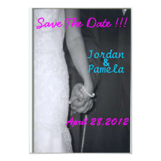 bride and groom holding hands 9 cm x 13 cm invitation card