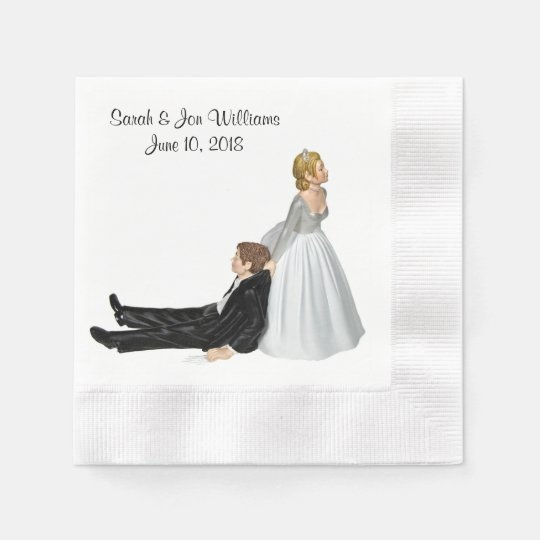 Bride and Groom Humour Paper Napkins