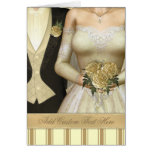 Bride and Groom (ivory) Wedding Cards