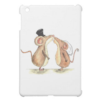 Bride and Groom - Kissing Mice - Gift for Wedding iPad Mini Cover