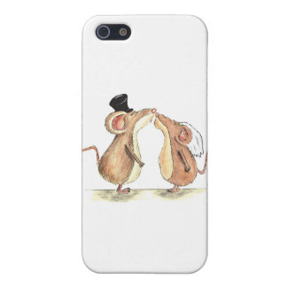 Bride and Groom - Kissing Mice - Gift for Wedding Cover For iPhone 5