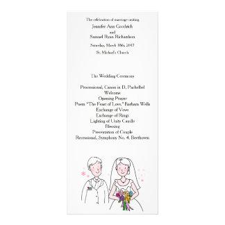 Bride and Groom Marry My Friend Wedding Program Full Color Rack Card