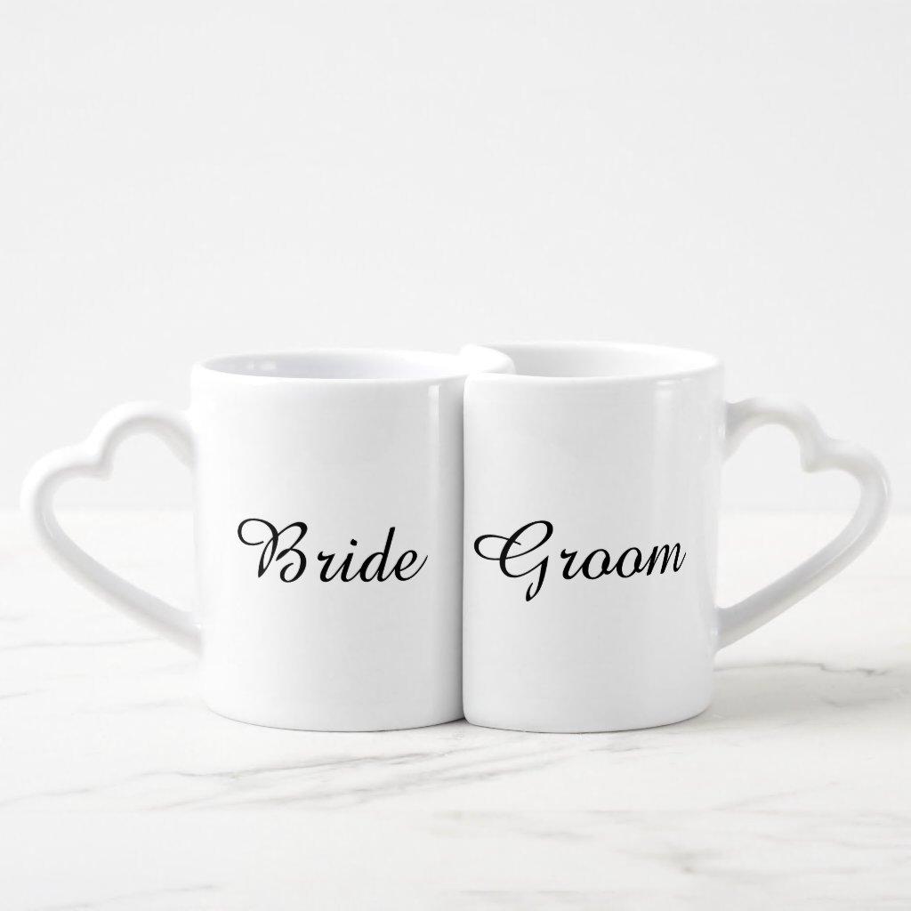 """Bride and Groom"" Nesting Mugs"