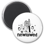 Bride and Groom Newlywed Magnets