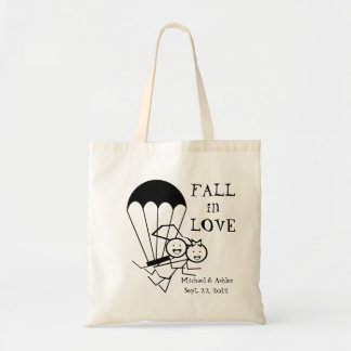 Bride and Groom Parachuters Budget Tote Bag